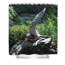 Unicorn Remains Shower Curtain by Donna Blackhall