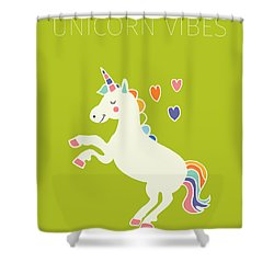 Unicorn Vibes Shower Curtain by Nicole Wilson