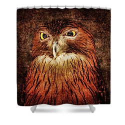 Unimpressed Shower Curtain by Andrew Paranavitana