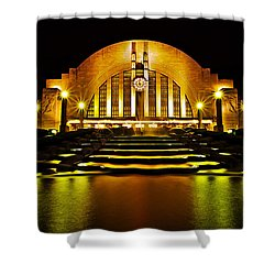 Union Terminal Shower Curtain by Keith Allen