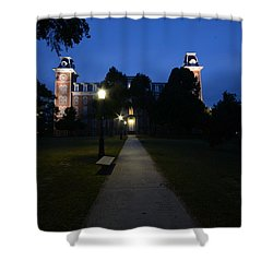 University Of Arkansas Shower Curtain by Chris  Look