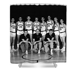 University Of Michigan Basketball Team 1960-61 Shower Curtain by Mountain Dreams