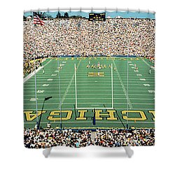 University Of Michigan Stadium, Ann Shower Curtain by Panoramic Images