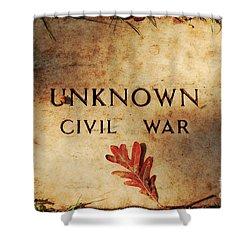 Unknown Civil War Shower Curtain by Kathleen K Parker