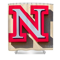 UNL Shower Curtain by Jerry Fornarotto