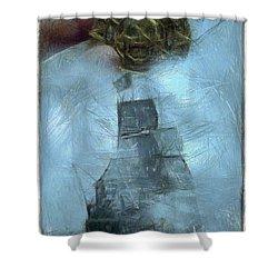Unnatural Fog Shower Curtain by Benjamin Dean