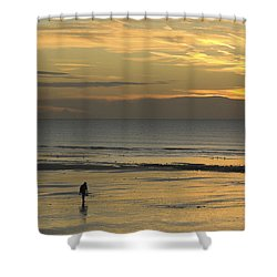 Up At First Light Shower Curtain by Hazy Apple