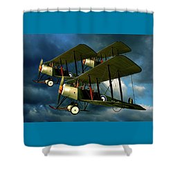 Up In The Air Shower Curtain by Steven Agius