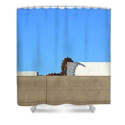 Up On The Roof Shower Curtain by Lin Haring