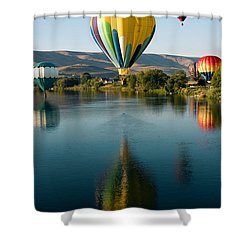 Up Up In The Air Shower Curtain by David Patterson