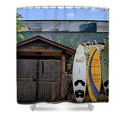 Upcountry Boards Shower Curtain by DJ Florek