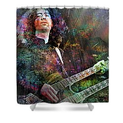 Upon Us All A Little Rain Must Fall Shower Curtain by Mal Bray