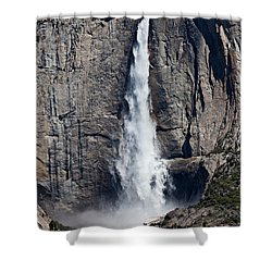 Upper Yosemite Falls Shower Curtain by Garry Gay