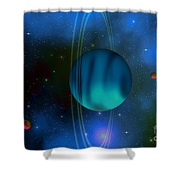 Uranus Shower Curtain by Corey Ford