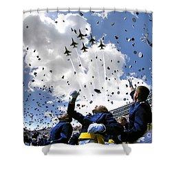 U.s. Air Force Academy Graduates Throw Shower Curtain by Stocktrek Images