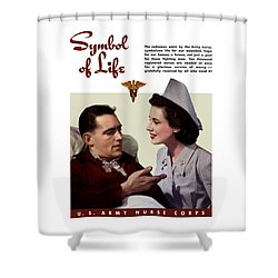 Us Army Nurse Corps Shower Curtain by War Is Hell Store