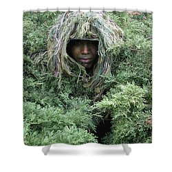 U.s. Army Soldier Demonstrates The Use Shower Curtain by Stocktrek Images