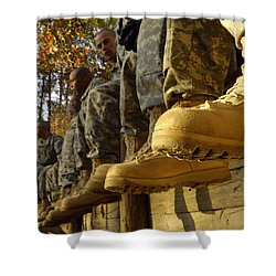 U.s. Army Soldiers Prepare For Basic Shower Curtain by Stocktrek Images