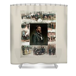 Us Grant's Career In Pictures Shower Curtain by War Is Hell Store