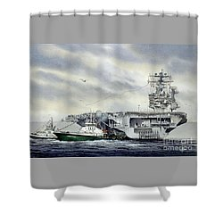 Uss Abraham Lincoln Shower Curtain by James Williamson