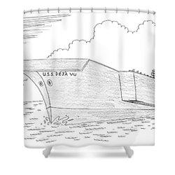 U.s.s. Deja Vu Shower Curtain by Mick Stevens