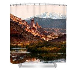 Utah Colorado River Shower Curtain by Marilyn Hunt