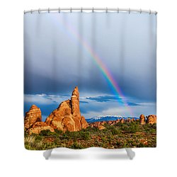 Utah Rainbow Shower Curtain by James BO  Insogna