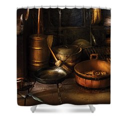 Utensils - Colonial Utensils Shower Curtain by Mike Savad