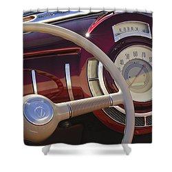 V8 Hot Rod Dash Shower Curtain by Jill Reger