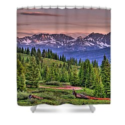Vail View Shower Curtain by Scott Mahon