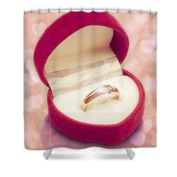 Valentine Ring Shower Curtain by Wim Lanclus