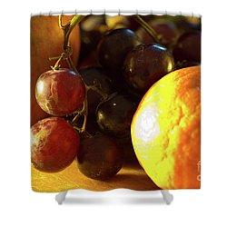 Various Fruit Shower Curtain by Brian Roscorla