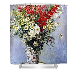 Vase Of Flowers Shower Curtain by Claude Monet