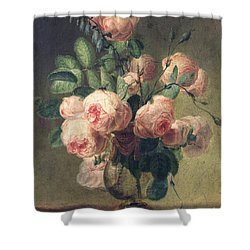 Vase Of Flowers Shower Curtain by Pierre Joseph Redoute