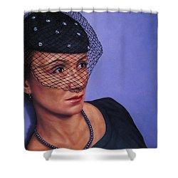 Veiled Shower Curtain by James W Johnson
