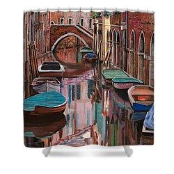 Venezia A Colori Shower Curtain by Guido Borelli
