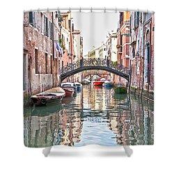 Venice Bridge Crossing 2 Shower Curtain by Heiko Koehrer-Wagner