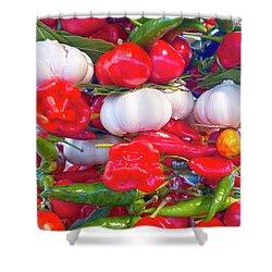 Venice Market Goodies Shower Curtain by Heiko Koehrer-Wagner