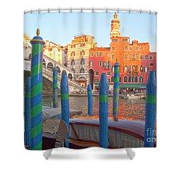 Venice Rialto Bridge Shower Curtain by Heiko Koehrer-Wagner