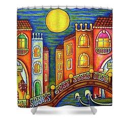 Venice Soiree Shower Curtain by Lisa  Lorenz