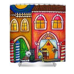 Venice Valentine Shower Curtain by Lisa  Lorenz