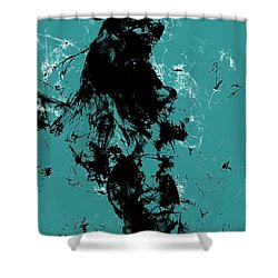 Venus Williams 4f Shower Curtain by Brian Reaves