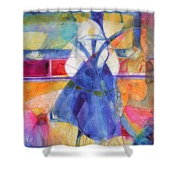 Vermeer Was Here Shower Curtain by Annika Farmer