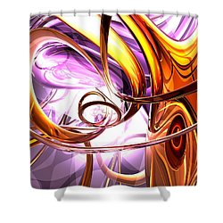 Vicious Web Abstract Shower Curtain by Alexander Butler