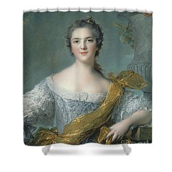Victoire De France At Fontevrault Shower Curtain by Jean Marc Nattier