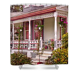 Victorian - Belvidere Nj - The Beauty Of Spring  Shower Curtain by Mike Savad