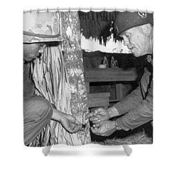 Viet Cong Booby Trap Shower Curtain by Underwood Archives