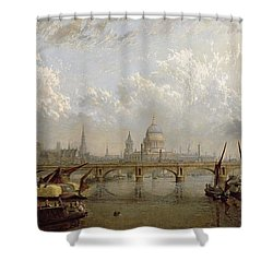 View Of London  Shower Curtain by John MacVicar Anderson