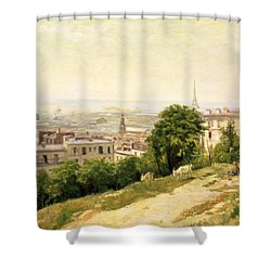 View Of Paris Shower Curtain by Stanislas Victor Edouard Lepine