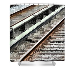View Of The Railway Track  Shower Curtain by Lanjee Chee